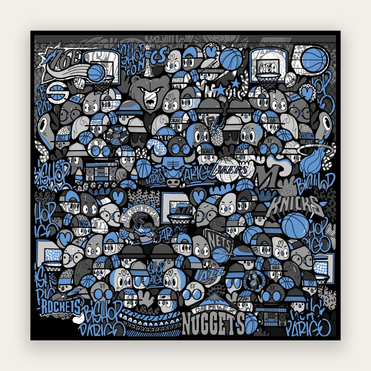 I Love Basket (Blue)